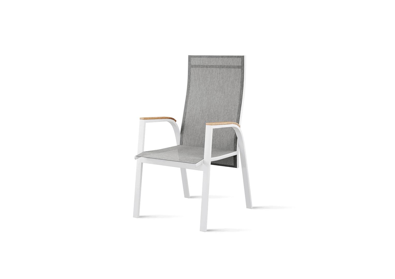 Krzesło ogrodowe ALICANTE teak white