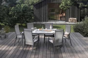 Krzesło ogrodowe ALICANTE antracite