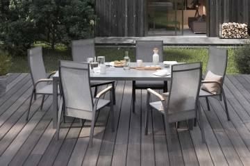 Krzesło ogrodowe ALICANTE teak antracite