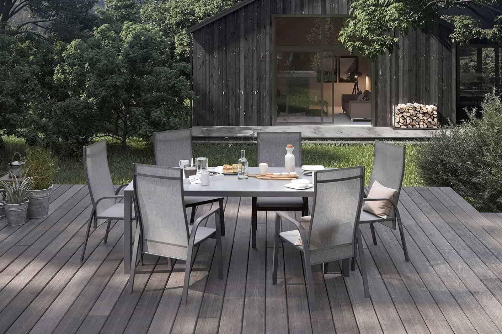 Stół ogrodowy OVIEDO antracite