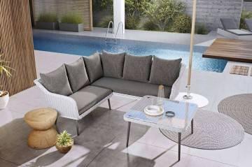 Fotel ogrodowy MONZA  IMOLA royal biały