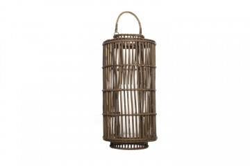 Lampiony ogrodowe: Lampion okrągły EMILION ⌀35cm x wys. 75cm grey