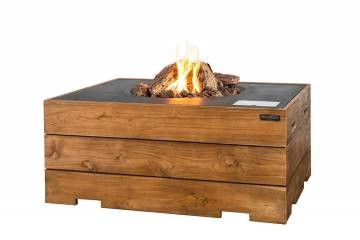 Palenisko gazowe z drewna teakowego 107x80x46cm antracyt