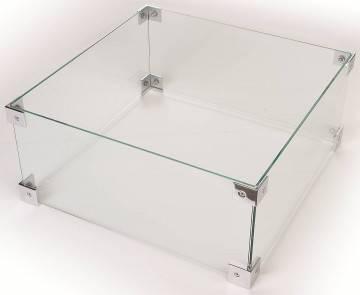 Osłona szklana do paleniska kwadratowego 60cm