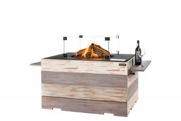 Palenisko gazowe kwadratowe Nice&Nasty Lounge&Dining 76x76x68cm czarne