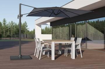 Meble ogrodowe: Zestaw ogrodowy MADRIT - LEON light grey
