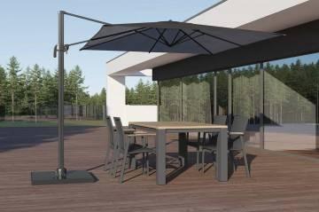 Meble ogrodowe: Zestaw ogrodowy MADRIT - LEON grey