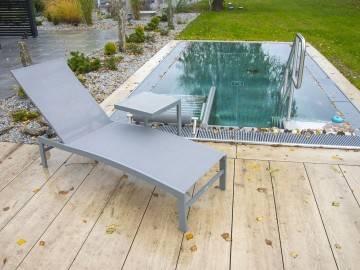 Leżak ogrodowy ALTEA + GRENADA Stone & Wood grey 440