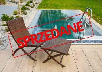 OUTLET: Krzesło ogrodowe PORTO z podnóżkiem modern brown 398