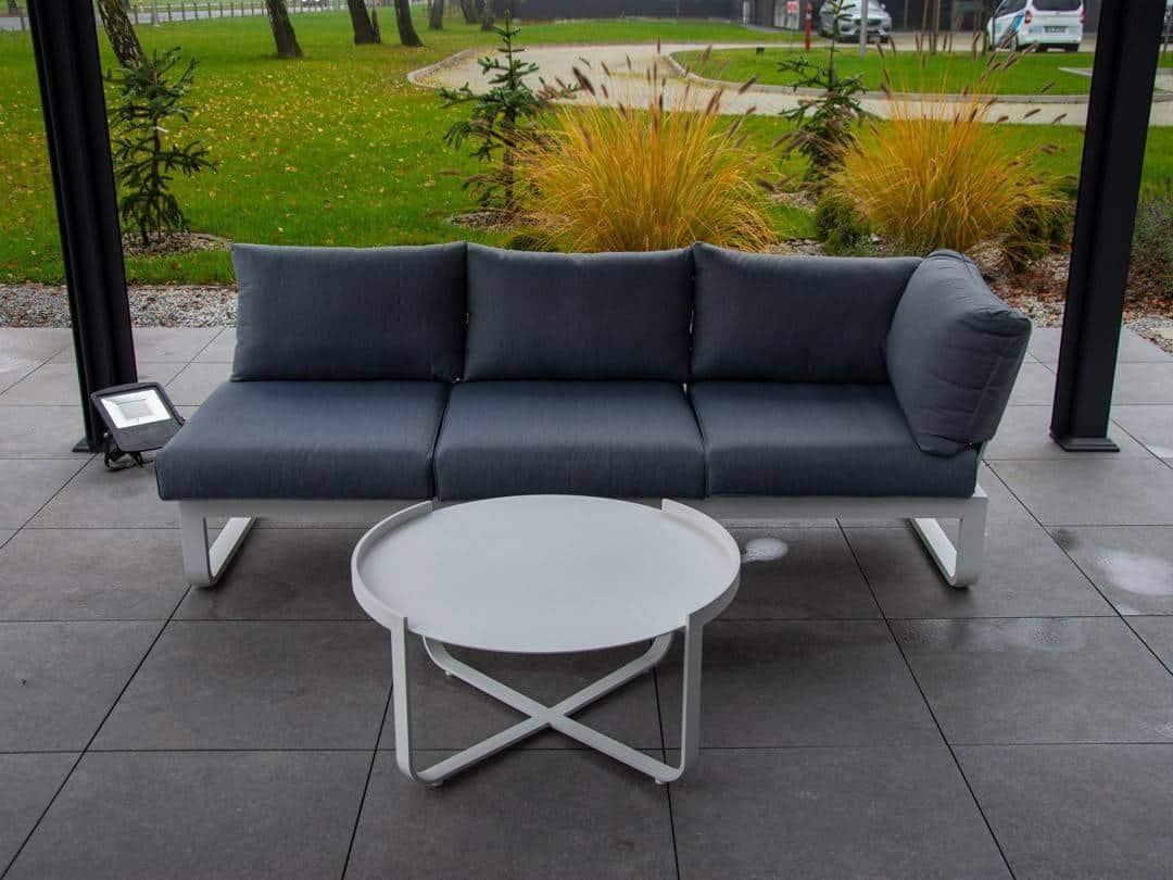 Zestaw sofa + stolik PARMA white 466
