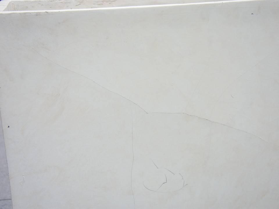 Donica ogrodowa z cementu TERRACE PARTIT piaskowa 485