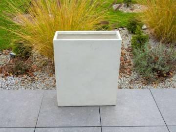 OUTLET: Donica ogrodowa z cementu TERRACE PARTIT piaskowa 485