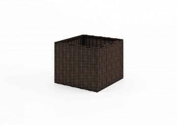 Donica ogrodowa RUBIC 50x50cm royal brown 496