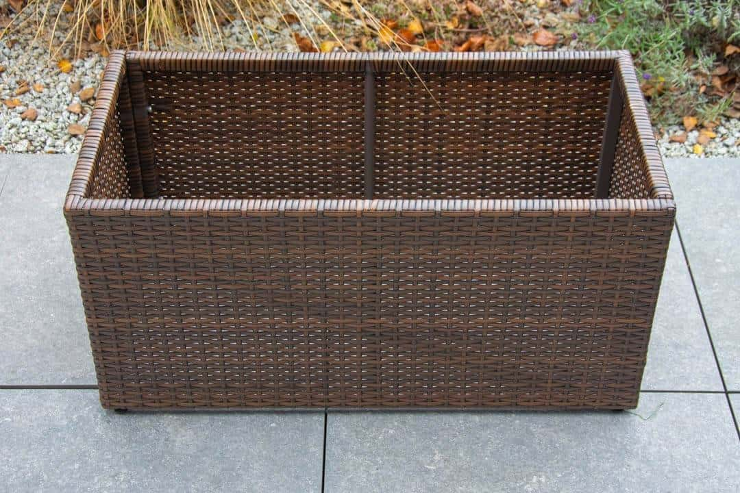 Donica ogrodowa RUBIC 80x40cm modern brown 499