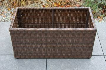 OUTLET: Donica ogrodowa RUBIC 80x40cm modern brown 499