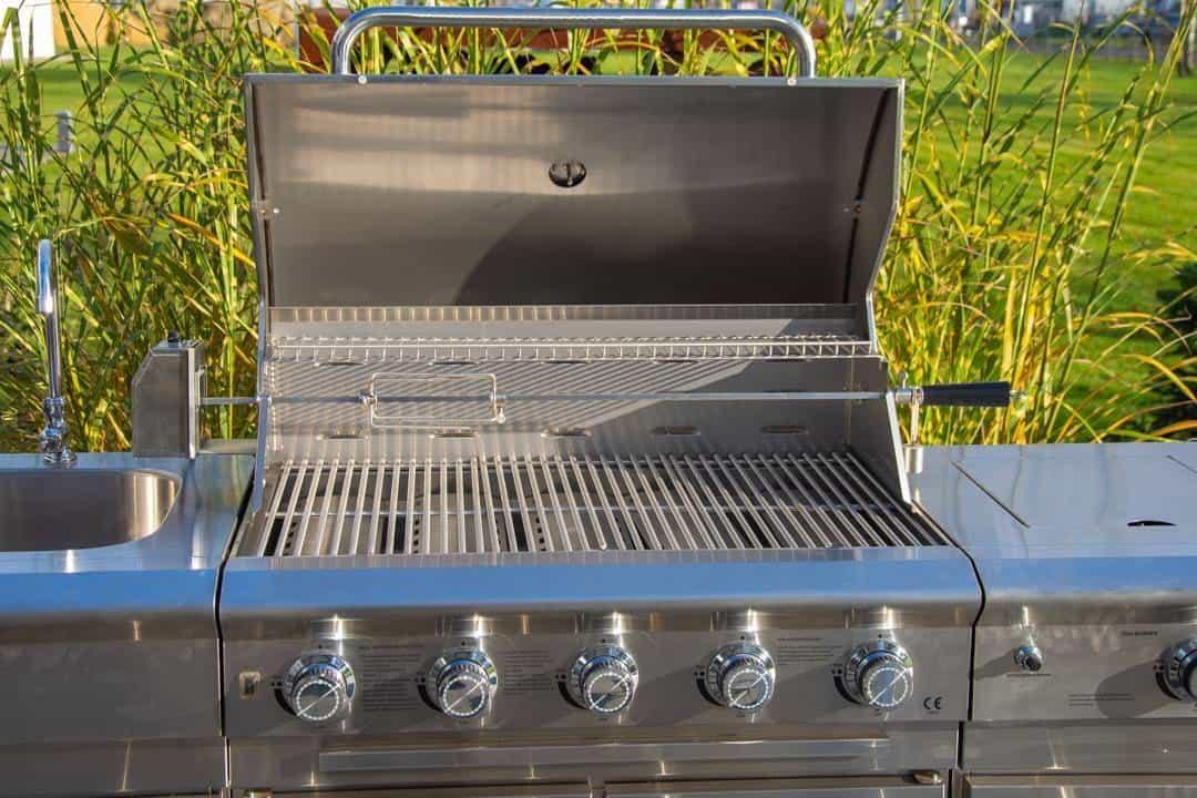 Grill ogrodowy gazowy - kuchnia BBQ TRAPANI PRO 5-palnikowa 508