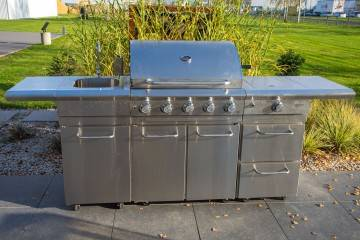 OUTLET: Grill ogrodowy gazowy - kuchnia BBQ TRAPANI PRO 5-palnikowa 508