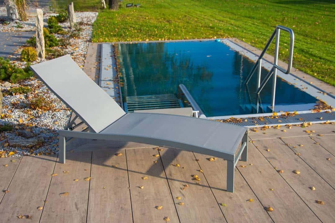 Leżak ogrodowy ALTEA grey 513