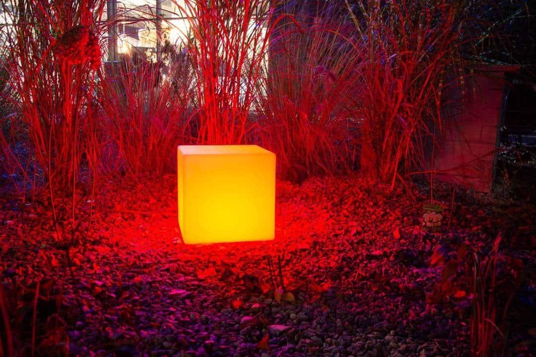 Lampa ogrodowa MAGIC LED CUBE RGB e27 ip 65 35cm 478