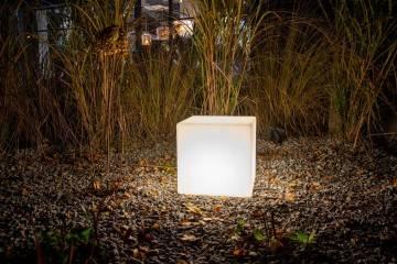 OUTLET: Lampa ogrodowa MAGIC LED CUBE RGB e27 ip 65 35cm 478