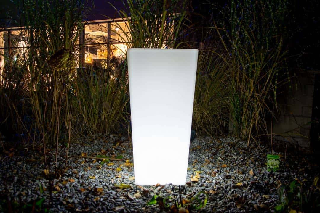 Donica FLOWER POT LED SQUARE ip 65 80cm 522
