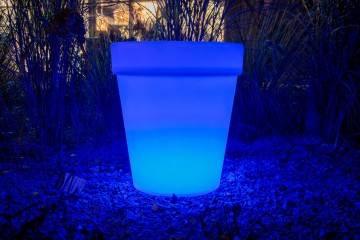 Donica FLOWER POT LED ROUND ip 65 66cm 523