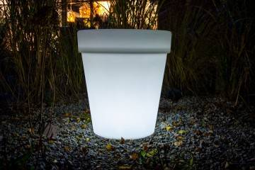 OUTLET: Donica FLOWER POT LED ROUND ip 65 66cm 523