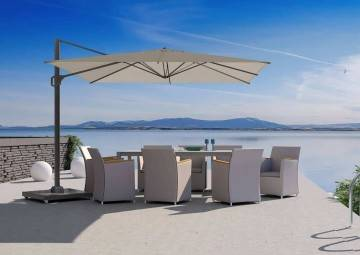 Parasol ogrodowy Challenger T1 3m x 3m taupe 7142e 563