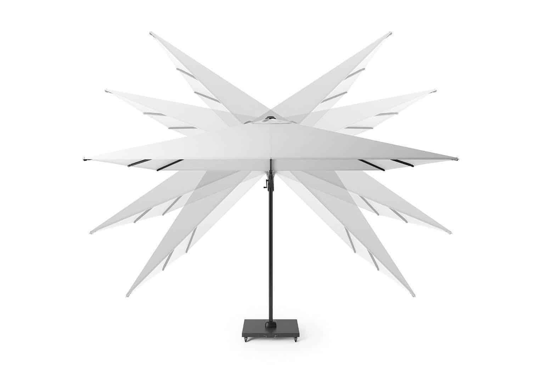 Parasol ogrodowy CHALLENGER T2 premium Ø 3,5 m havanna 7138Q 564