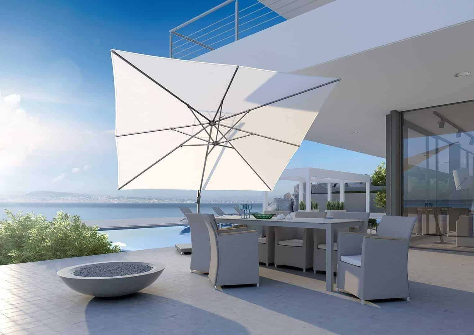 Parasol ogrodowy CHALLENGER T2 3 m x 3 m white 7139A 570