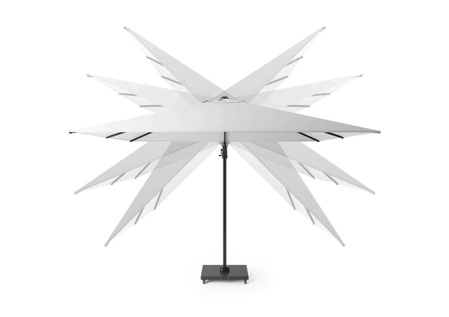 Parasol ogrodowy Challenger T2 GLOW 3 m x 3 m anthracite 7125 237