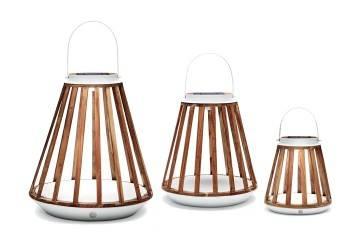 Lampa solarna Mrs. Solar Kate teak biała S