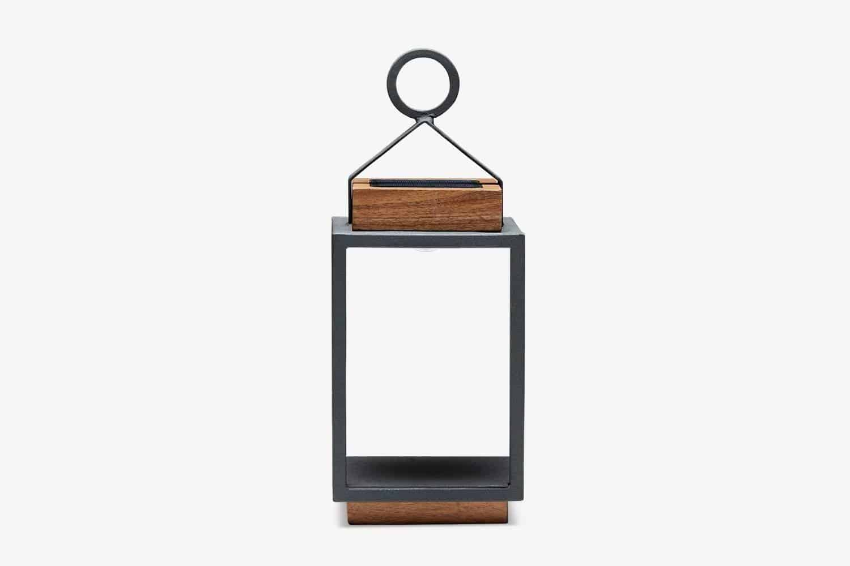 Lampa solarna Mrs. Solar Coco teak antracyt S