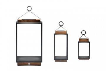 Lampa solarna Mrs. Solar Coco teak antracyt M