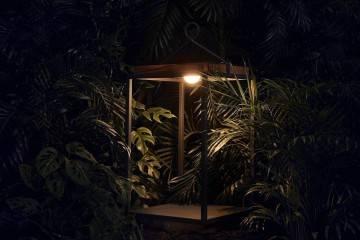 Lampa solarna Mrs. Solar Coco teak antracyt XL