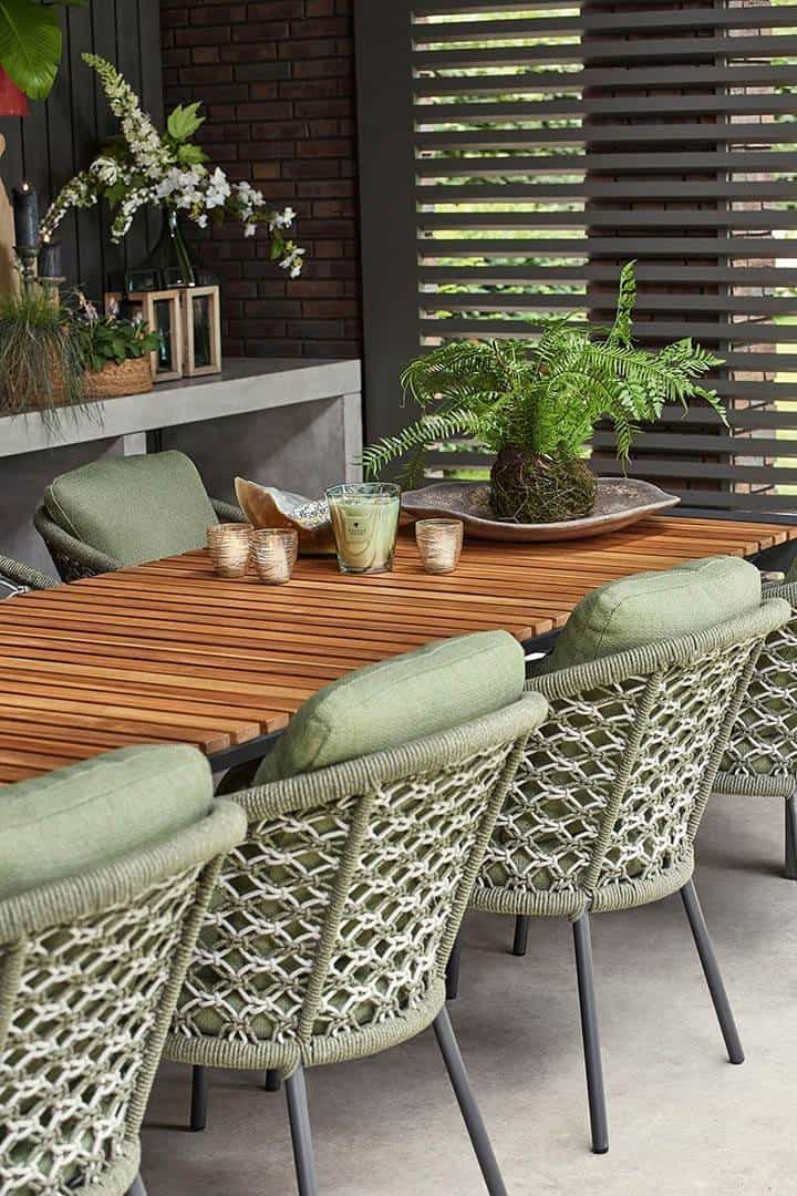 Stół ogrodowy rozkładany ARONA 212 cm antracyt