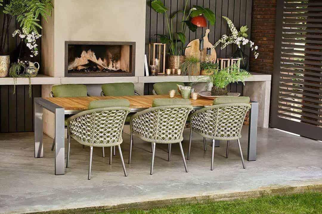 Stół ogrodowy rozkładany RIALTO 217 cm antracyt