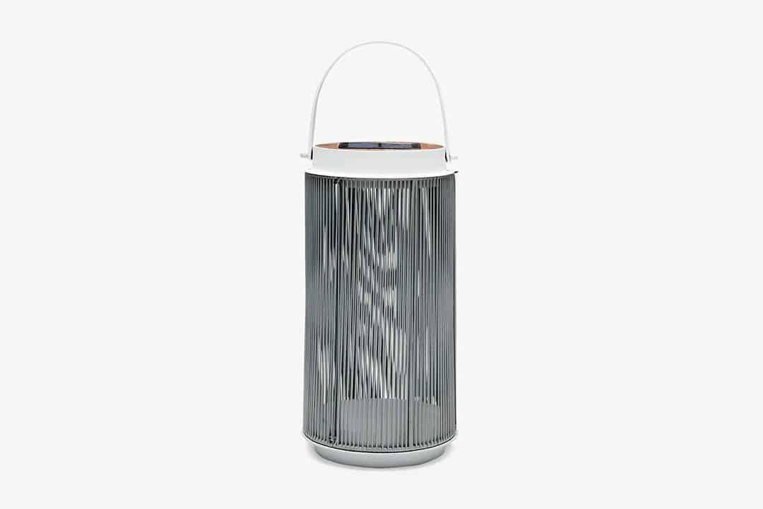 Lampa solarna Mrs. Solar Fay teak biała S