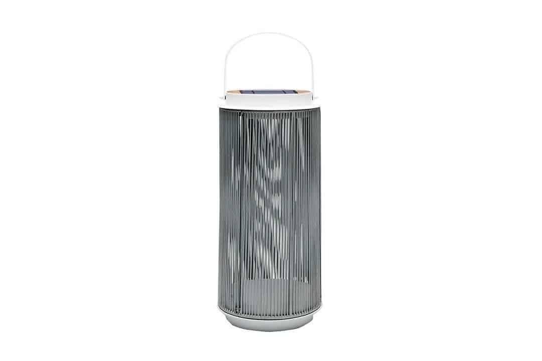 Lampa solarna Mrs. Solar Fay teak biała M