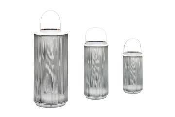 Lampa solarna Mrs. Solar Fay teak biała XL