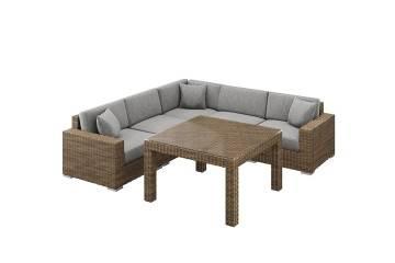 nowoczesne meble ogrodowe: Meble ogrodowe MILANO III royal piaskowy