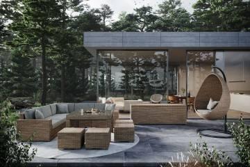 zestaw ogrodowy: Meble ogrodowe MILANO IV royal piaskowy