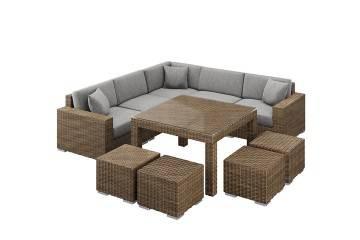 nowoczesne meble ogrodowe: Meble ogrodowe MILANO IV royal piaskowy