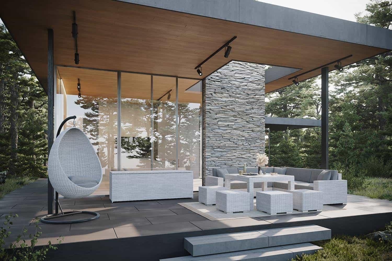 Meble ogrodowe MILANO IV royal biały