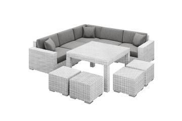 nowoczesne meble ogrodowe: Meble ogrodowe MILANO IV royal biały