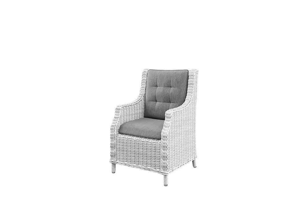 Fotel do ogrodu SIENA royal biały
