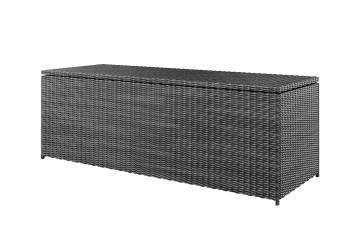Meble ogrodowe: Skrzynia na poduszki SCATOLA 200cm royal szara