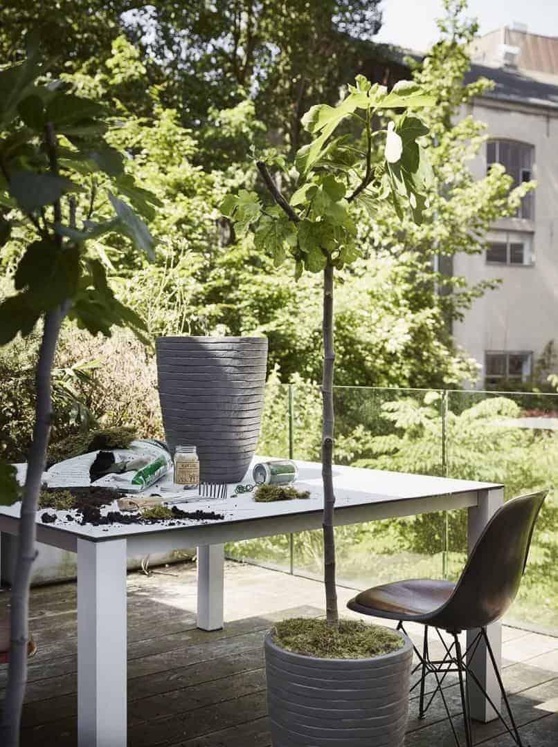 Donica ogrodowa z cementu OFI962 26cm