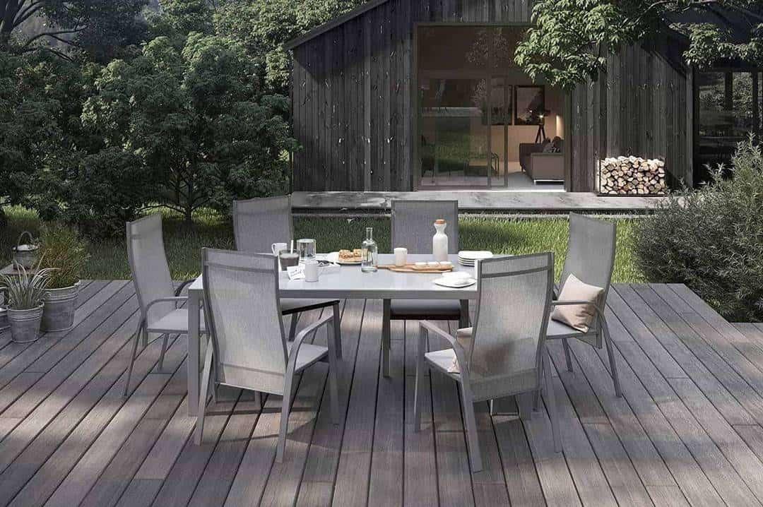 Krzesło ogrodowe ALICANTE szare