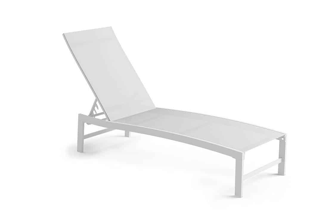 Leżak ogrodowy ALTEA biały